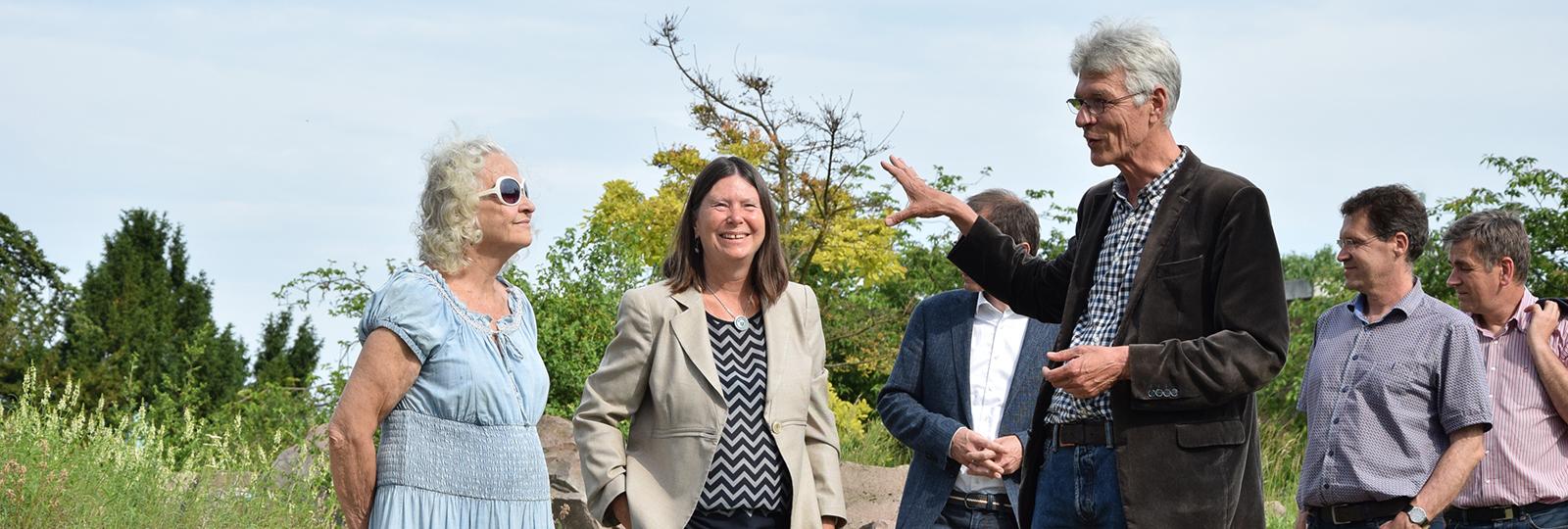 Umweltministerin Ulrike Höfken im Gespräch