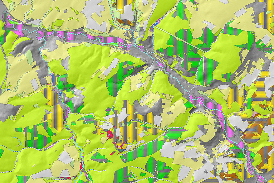 Karte vernetzter Biotopsysteme