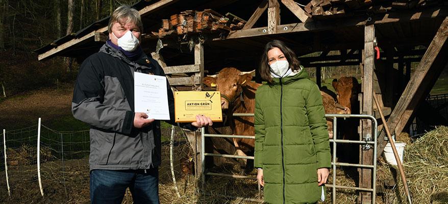 """Auszeichnung der """"Aktion Grün""""-Kommune Lindenberg"""
